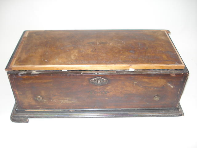 A restoration-project Mandoline-Zither musical box playing six airs,