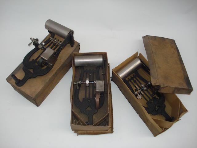 Three Puck Phonographs: