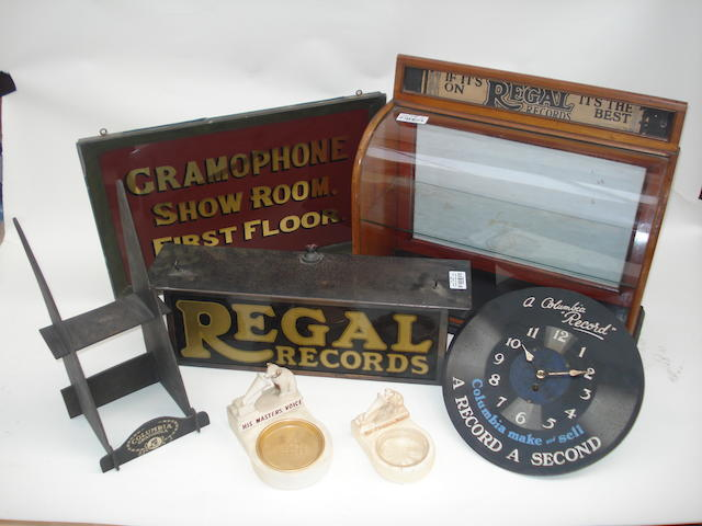 Gramophone shop display accessories: