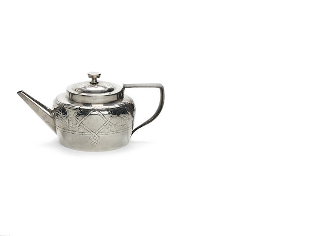 Christopher Dresser for Hukin and Heath Aesthetic Movemnet Tea pot (minus rattan handle)