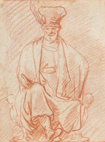 Attributed to Pieter Pietersz Lastman (Dutch, 1583-1633) A seated Man wearing a Hat