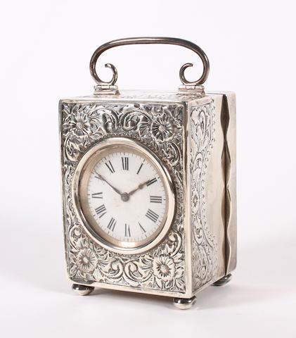 An Edwardian silver timepiece By G. Baylis, Birmingham, 1901,