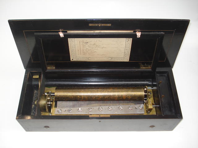 A musical box playing ten airs, by Bremond, circa 1885,