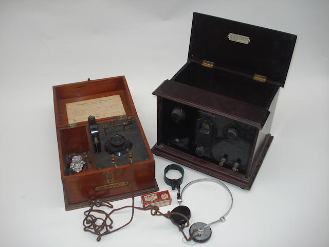 An Efescaphone 'Benbow' crystal set, circa 1923,