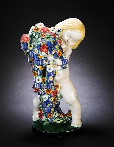 Michael Powolny for Wiener Keramik 'Spring' a Figural Study, circa 1908