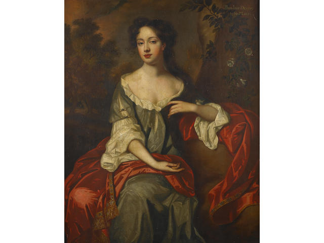 Studio of Sir Peter Lely (Soest 1618-1680 London) Portrait of Miss Jane Dering, three-quarter-length,