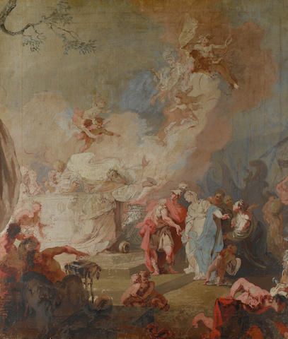 Venetian School, 18th Century The Sacrifice of Iphigenia, unfinished
