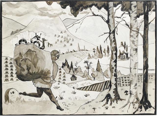 Edward Burra (British, 1905-1976) The Thief 27 x 37.5 cm. (10 3/4 x 14 3/4 in.)