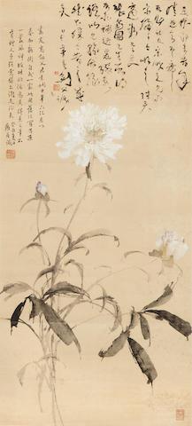 Gao Jianfu (1879-1951) Peonies