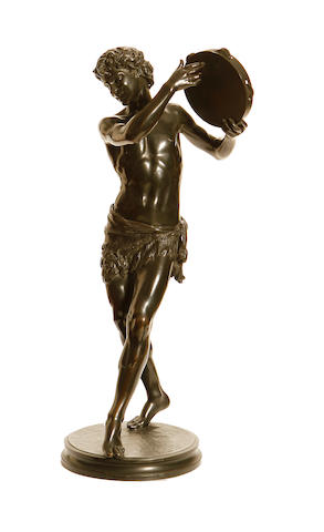 Justin Chrysotome Sanson, French (1833-1910) A bronze model of Il Santorello
