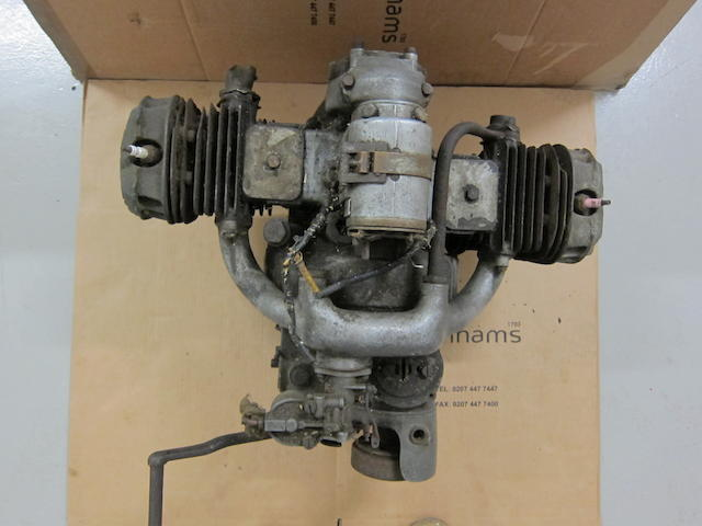 A BMW 745cc R12 engine, circa 1940,