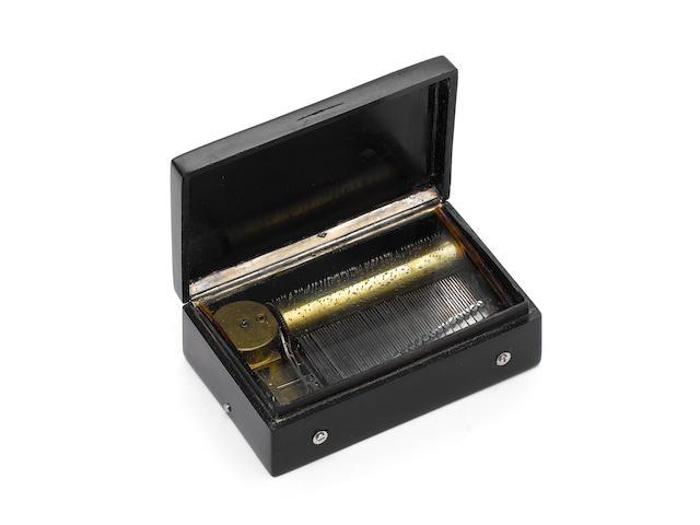 An early composition musical snuffbox,  circa 1815,