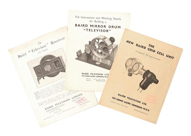 Baird Television Limited: very early and near-mint prospectus and instruction leaflets;
