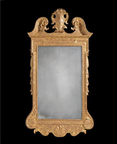 A George II carved giltwood and gesso mirror