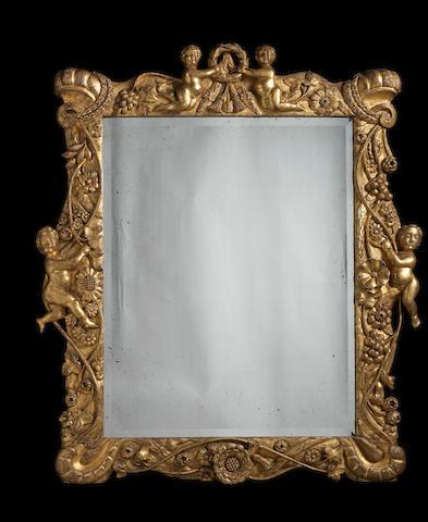 A Charles II carved giltwood frame