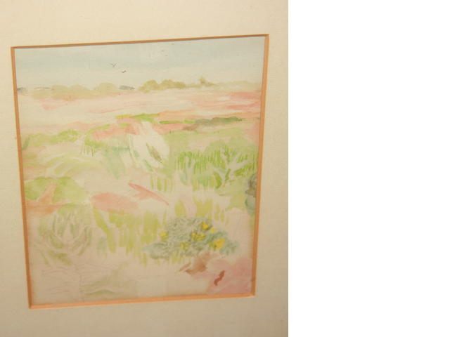 Mary Potter (1900-1981) Bird Sanctuary 1953 Watercolour and pencil, 15cm x 12cm.