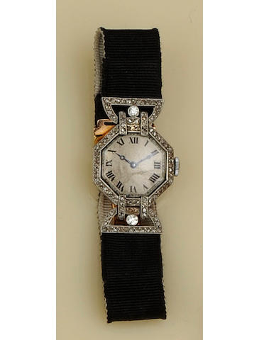 An early 20th Century diamond cocktail watch