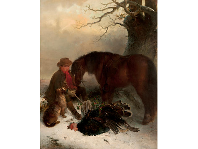 Edward Robert Smythe (British, 1810-1899) Thoughts of Christmas