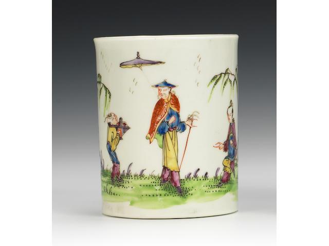 A very fine Worcester small mug, circa 1754-55