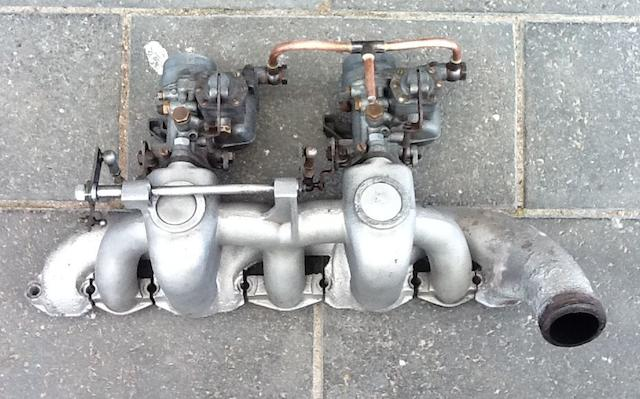 A set of Solex carburettors for BMW 327,