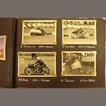 A motorcycle racing photo album, 1950s-1970s,
