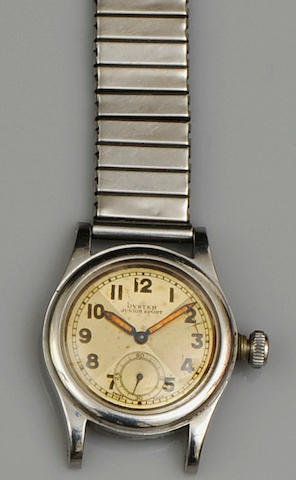 Rolex: A lady's Oyster Junior Sport stainless steel manual wind wristwatch