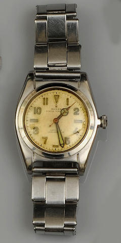 Rolex: A stainless steel lady's Oyster Perpetual manuel wind wristwatch