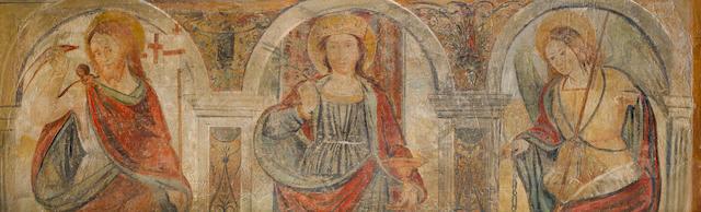 Circle of Gaudenzio Ferrari (Valduggia circa 1484-1546 Milan) Saint Barbara with Saint George and the Archangel Michael