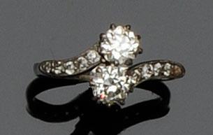A two stone diamond ring