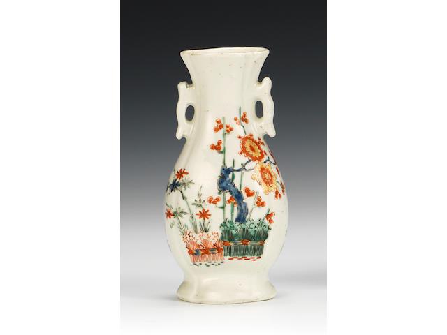 A fine and rare Worcester small vase, circa 1752-53