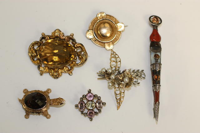 Six brooches
