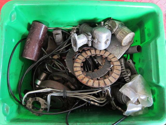 An autojumbler's lot of spares,