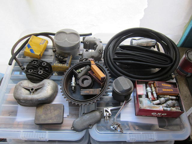 A good autojumbler's lot of assorted spares,