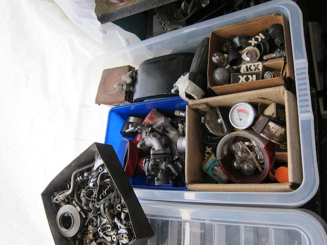 Assorted spares including oil tank,