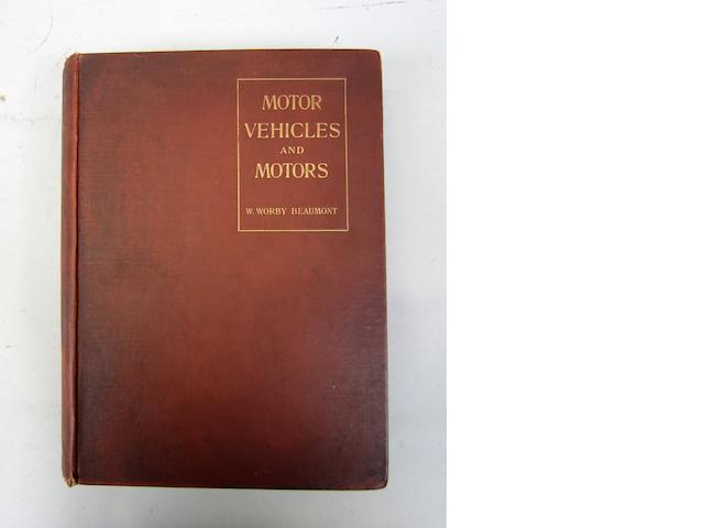 W Worby Beaumont: Motor Vehicles and Motors; 1900
