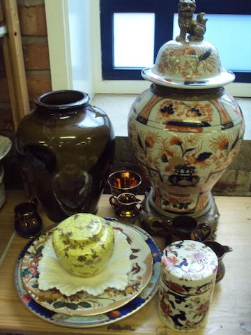A small mixed collection of English and Continental ceramics