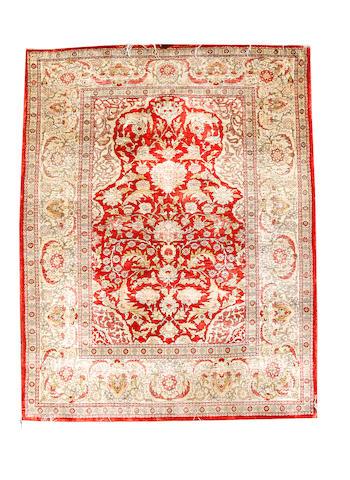 A Hereke silk rug West Anatolia, 148cm x 104cm