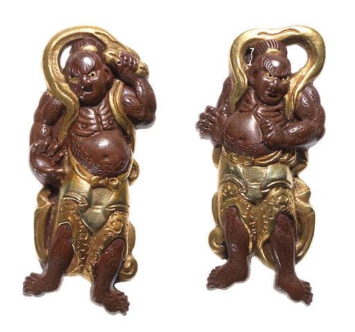 Three pairs of menuki Late 19th century