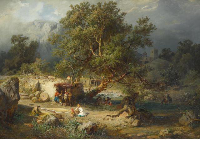 von Franken, Kavkaz Caucasian landscape