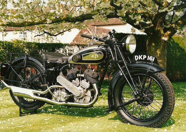 1937 AJS 982cc Model 37/2 Frame no. 788 Engine no. 37/2/2304
