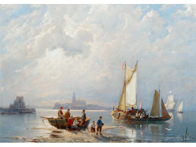 Pieter Christian Dommersen (Dutch, 1865-1913) Enkhuizen on the Zuiderzee, Holland