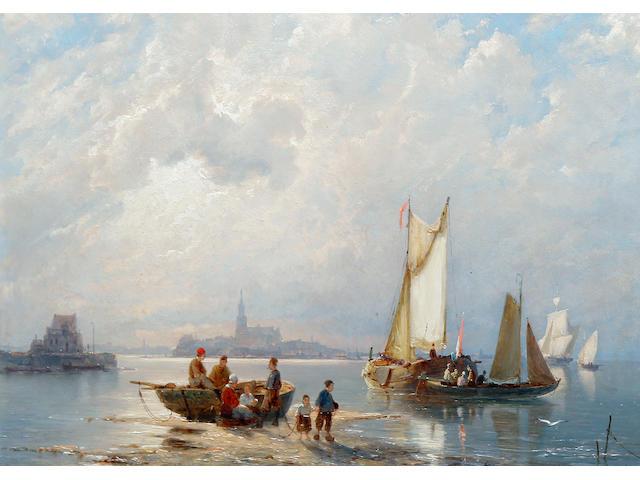 Pieter Christian Dommersen (Dutch, 1865-1913) Enkhuizen on the Zuiderzee, Holland