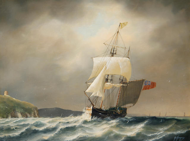 Timothy Franklin Ross Thompson (British, born 1951) Collier Brig entering Folkestone Harbour