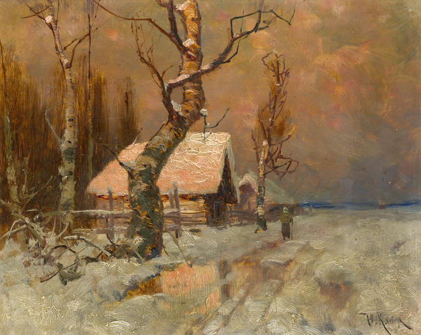 Yuli Yulievich Klever (Russian, 1850-1924), and studio The hues of the setting sun