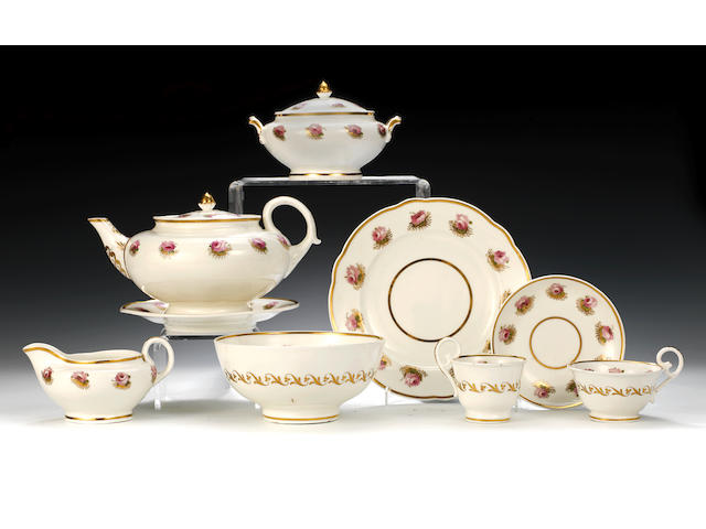 The Edwards Service: An important Nantgarw tea and coffee service, circa 1818-20