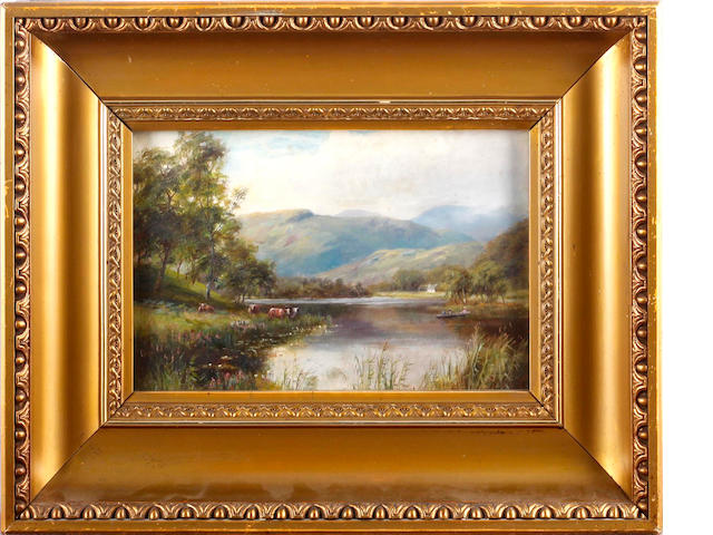 William Lakin Turner (British, 1867-1936) A Highland Lanscape; and Rydal Water (a pair)