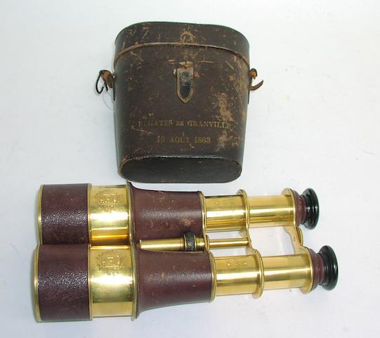 A pair of Prize Binoculars, Granville Regatta 1863. 6x3.5x7in. (15x9x18cm)