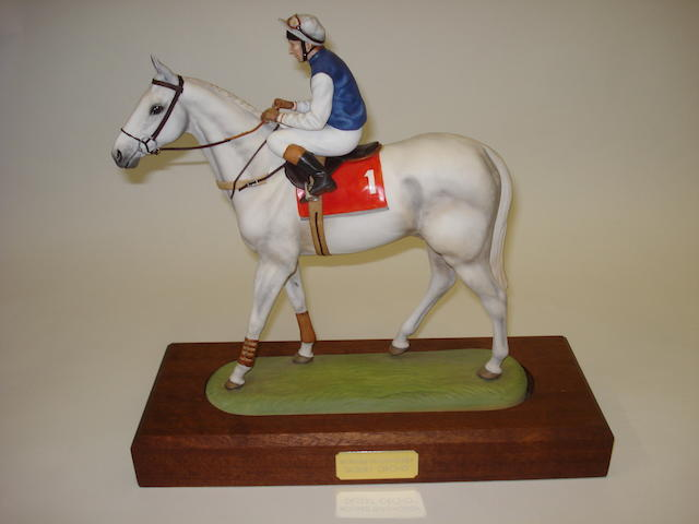 A RCL Sporting Icons porcelain figure of Desert Orchid ridden by Richard Dunwoody