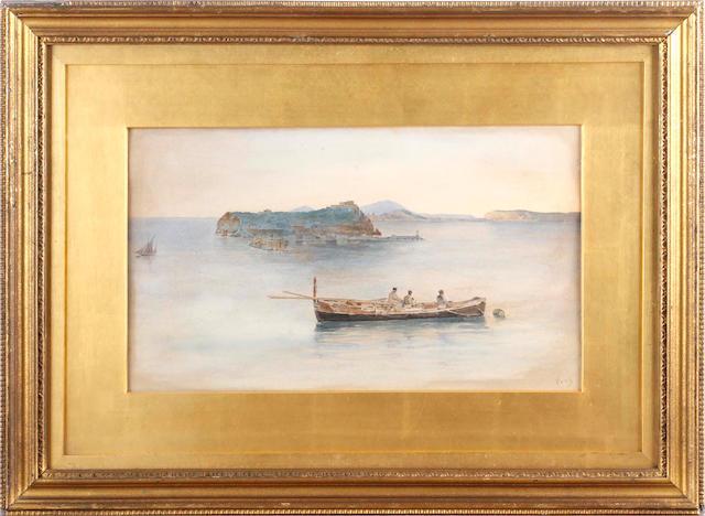 Vincenzo Loria (Italian, 1850-1939) Fishermen at sea (a pair)