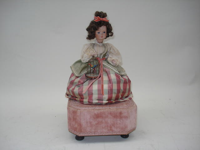 A musical doll automaton, by Reuge, late 20th century,
